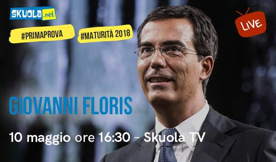 Maturità 2018, i consigli di Giovanni Floris ospite della Skuola Tv!