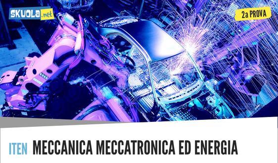 Meccanica, meccatronica ed energia traccia e soluzione seconda prova maturità 2018: meccanica, macchine ed energia
