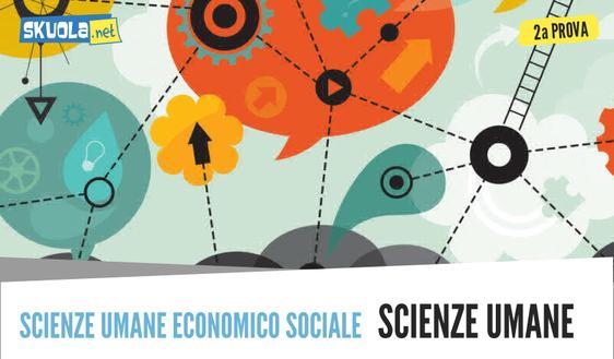 Traccia seconda prova Economico Sociale: Scienze Umane maturità 2018
