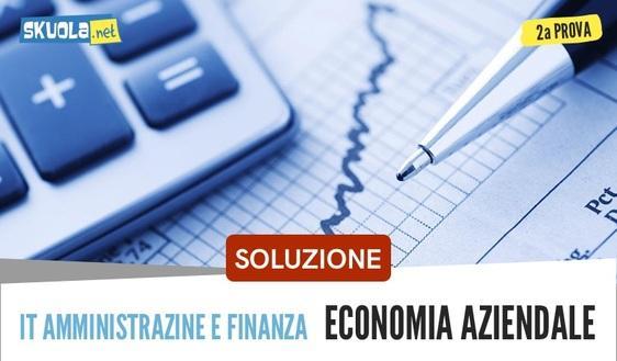 Soluzione completa Economia aziendale: seconda prova, maturità 2018