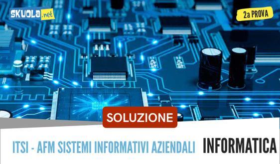 Soluzione traccia informatica istituti ITSI : seconda prova, maturità 2018