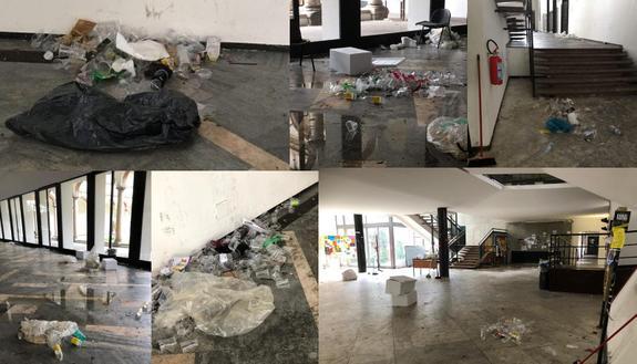 Statale di Milano, la festa di Halloween è un incubo: rifiuti e sporcizia per tutto l'ateneo