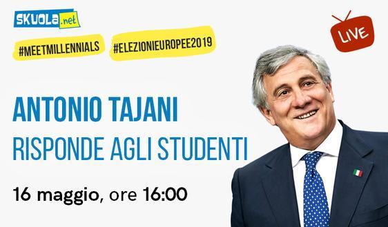 #MeetMillennials: il 16 maggio Tajani risponde agli studenti su Skuola.net