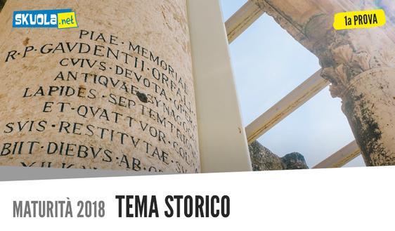 Tema storico traccia  Maturità 2018 su Moro e De Gasperi italiano