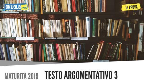 Prima prova testo argomentativo Maturità 2019: L'eredità del '900