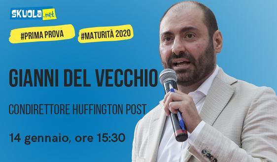Maturità 2020: i consigli di Gianni Del Vecchio ospite della Skuola Tv!