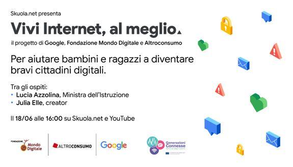 """""""Vivi Internet, al meglio"""": con la ministra Lucia Azzolina e Julia Elle parleremo di sicurezza in rete"""