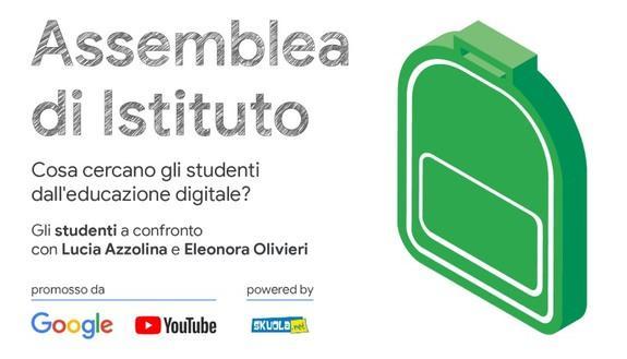 Assemblea di Istituto: cosa cercano gli studenti dall'educazione digitale? Risponde Lucia Azzolina - 30 novembre ore 15.00