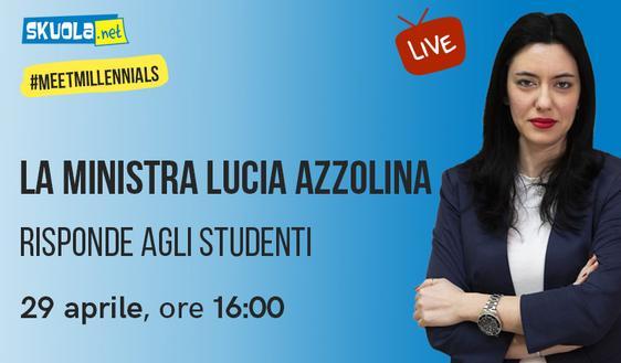 Maturità 2020 e scuola: il 29 aprile alle 16 Azzolina in diretta con gli studenti su Skuola.net