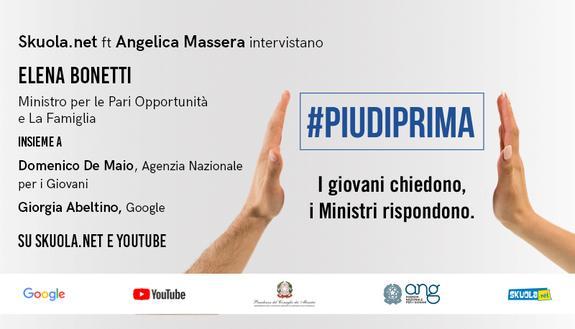 #Piudiprima: i giovani chiedono, i Ministri rispondono – Skuola Tv con la Ministra Elena Bonetti e Angelica Massera