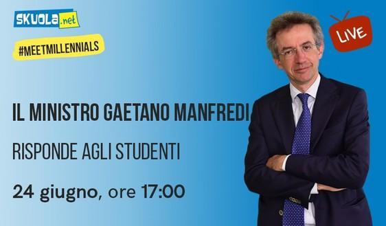 Ritorno all'Università, Test e Diritto allo Studio: il 24 giugno il ministro Manfredi su Skuola.net